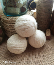 Load image into Gallery viewer, Set of Three 100% Wool Handmade Dryer Balls with Optional Cottage Basket