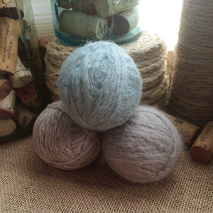 Set of Three 100% Wool Handmade Dryer Balls
