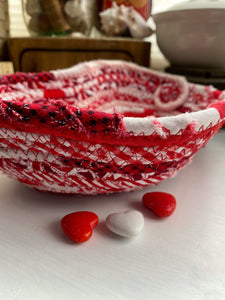 Small Heart Shaped Table Basket #1587