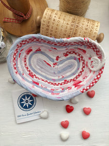 Small Heart Shaped Table Basket #1441- Ships FREE*