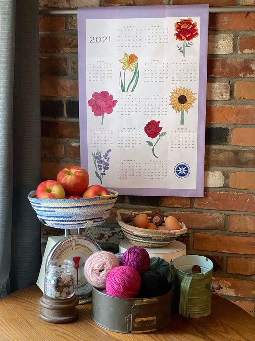 2021 Calendar Tea Towel