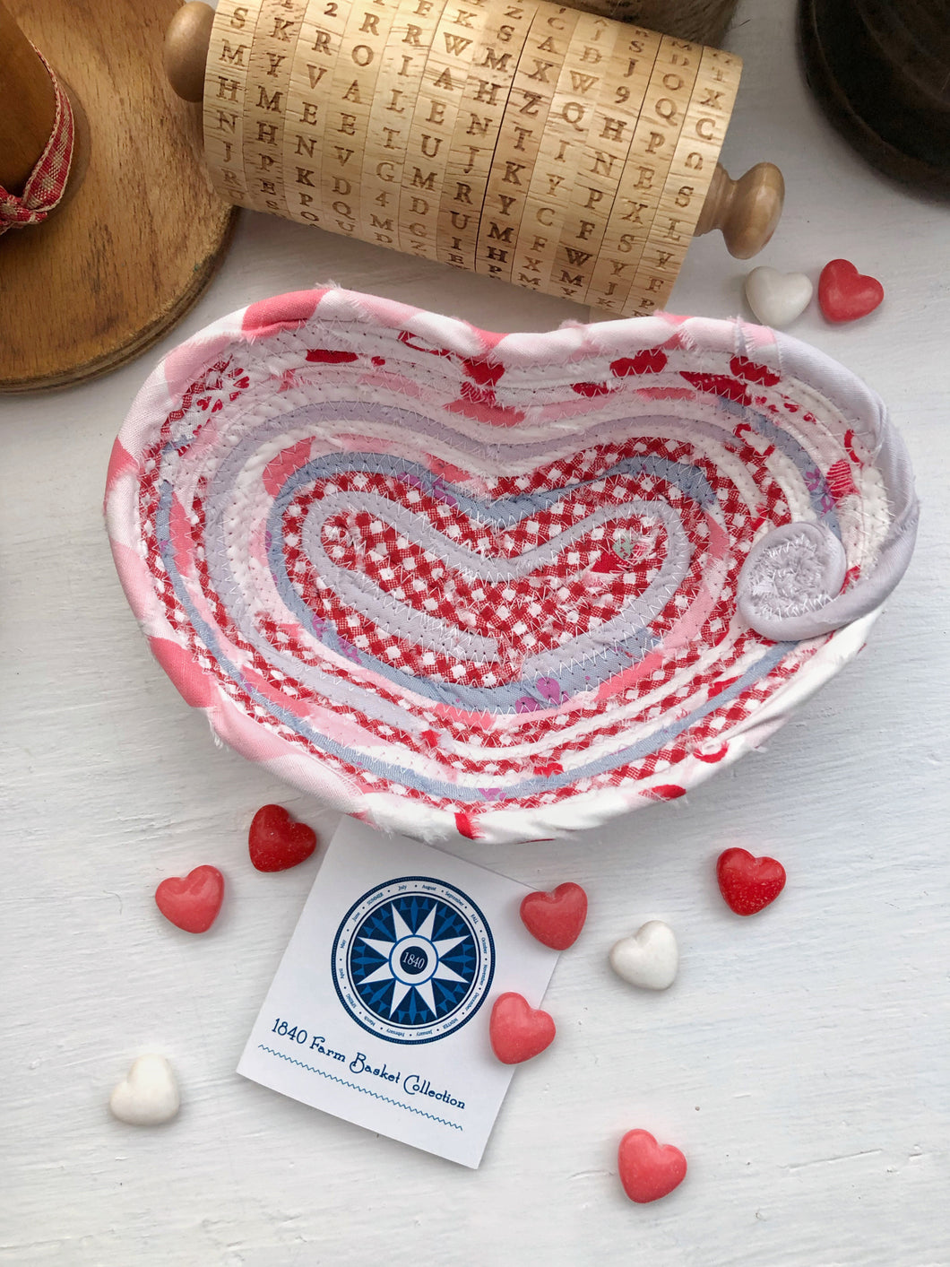 Small Heart Shaped Table Basket #1435- Ships FREE*