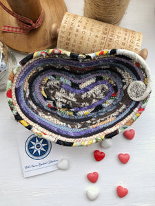 Small Heart Shaped Table Basket #1442- Ships FREE*
