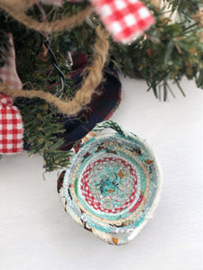 Miniature Egg Basket Ornament/Decoration - FREE SHIPPING