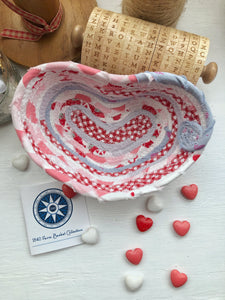 Small Heart Shaped Table Basket #1439- Ships FREE*