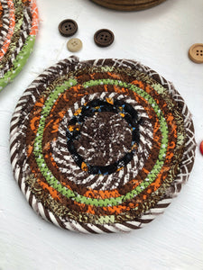 SALE - Traditional Flat Trivet Set in Fall Fabrics