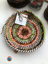 Load image into Gallery viewer, SALE - 7 inch Saucer Style Trivet in Fall Fabric Theme