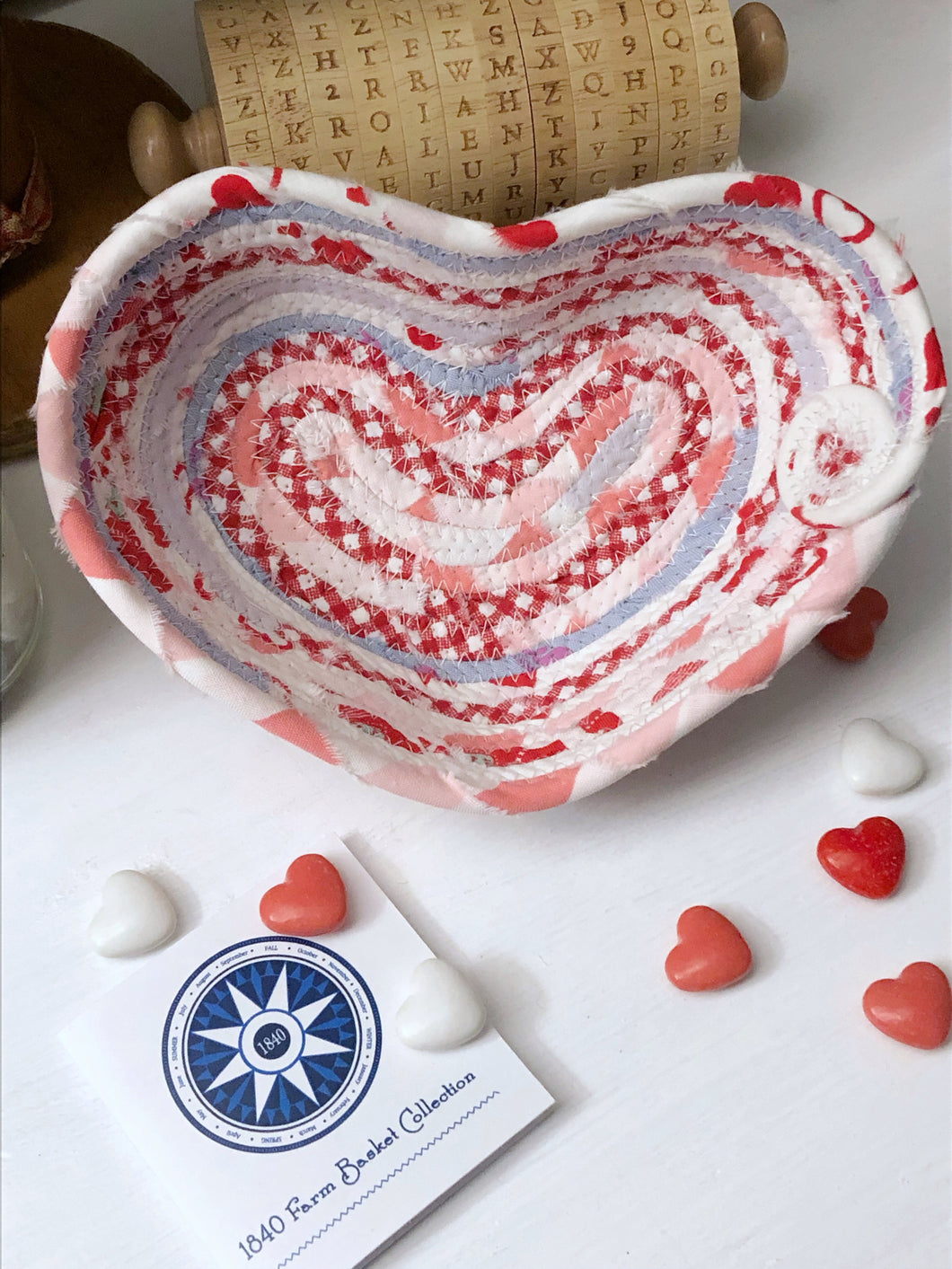 Small Heart Shaped Table Basket #1436- Ships FREE*