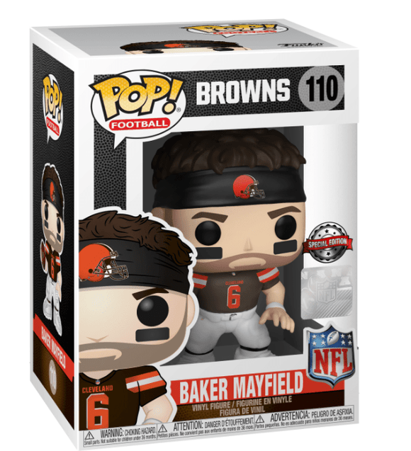 Football : Browns - Baker Mayfield #110 Exclusive Funko POP! Vinyl Figure