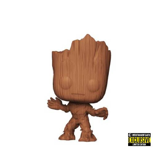 Marvel : Guardians of the Galaxy - Groot (Wood Deco) #622 Exclusive Funko POP! Vinyl Figure