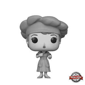 Television : I Love Lucy - Lucy (Factory) Black and White #656 Exclusive Funko POP! Vinyl Figure