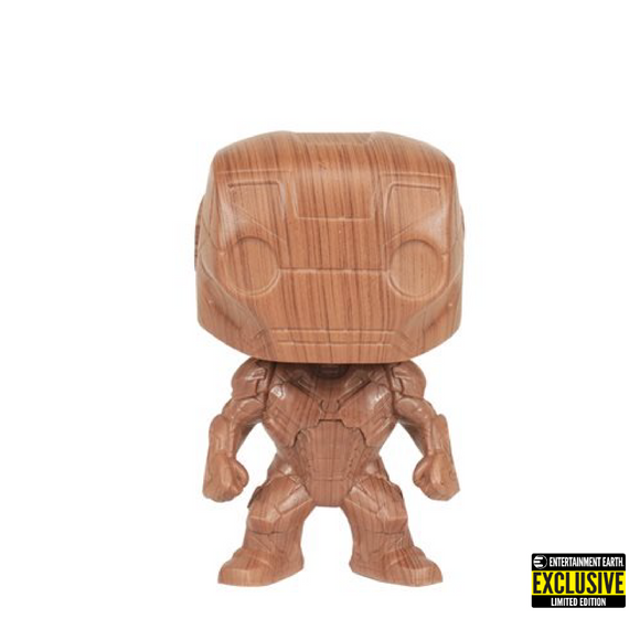 Marvel : Marvel - Iron Man Wood Deco #674 Exclusive Funko POP! Vinyl Figure