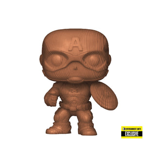 Marvel : Marvel - Captain America Wood Deco #584 Exclusive Funko POP! Vinyl Figure