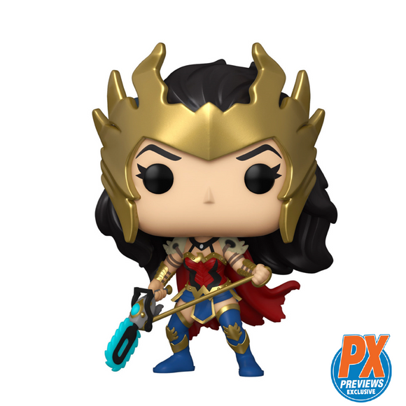 Heroes : Wonder Woman - Metal Death Wonder Woman #385 PX Exclusive Funko POP! Vinyl Figure
