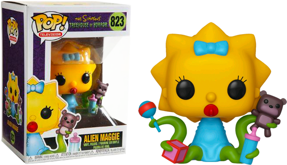 Television : The Simpsons - Alien Maggie #823 Funko POP! Vinyl Figure