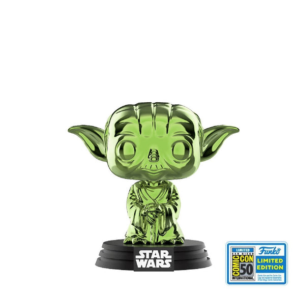 Star Wars : Star Wars - Yoda (Green Chrome) #124 SDCC Exclusive Funko POP! Vinyl Figure