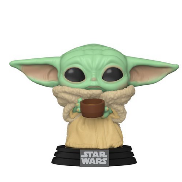 Star Wars : The Mandalorian - The Child (Baby Yoda) with Cup #378 Funko POP! Vinyl Figure