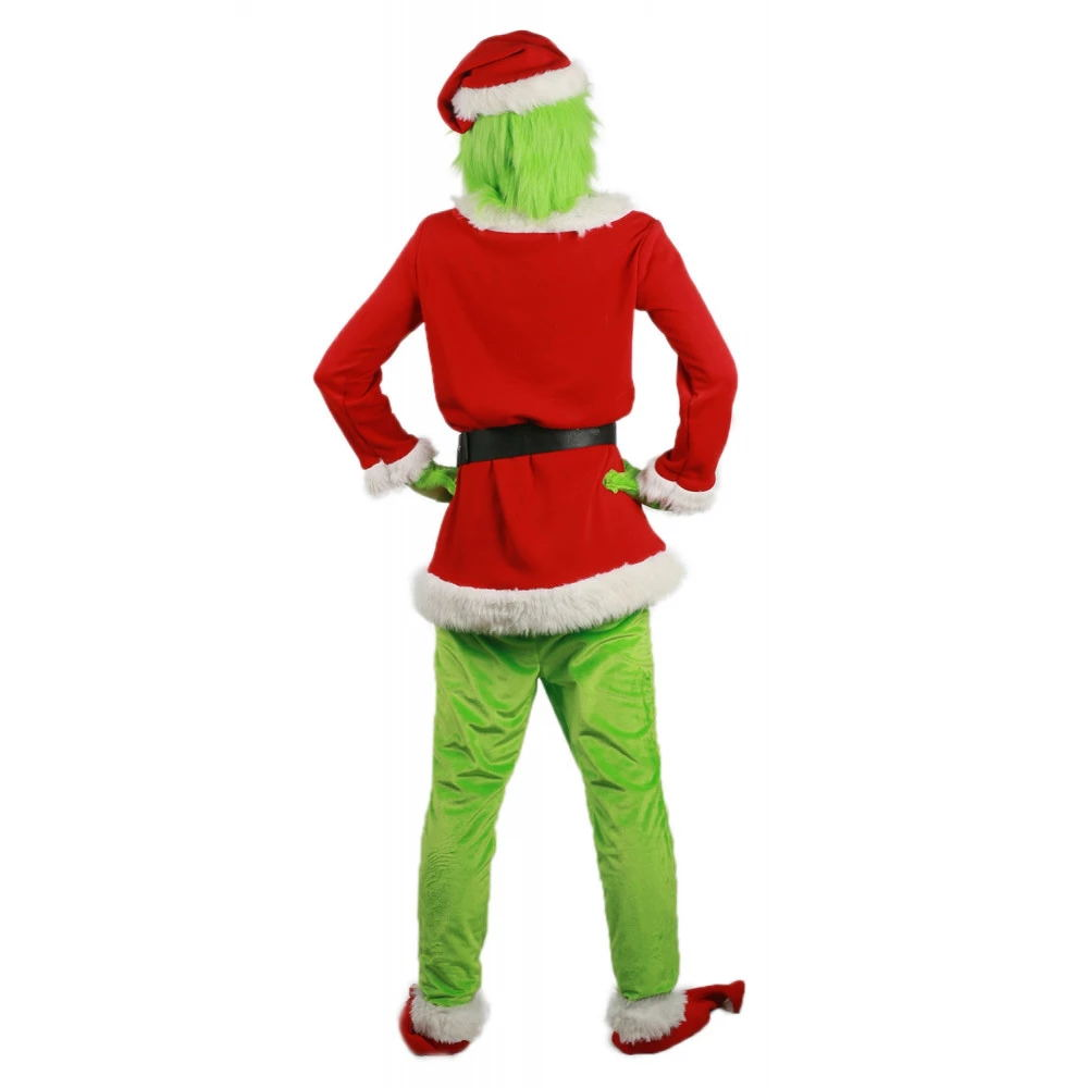 The Grinch Costume Clothes Suit Sets for Cosplay How The Grinch Stole Christmas