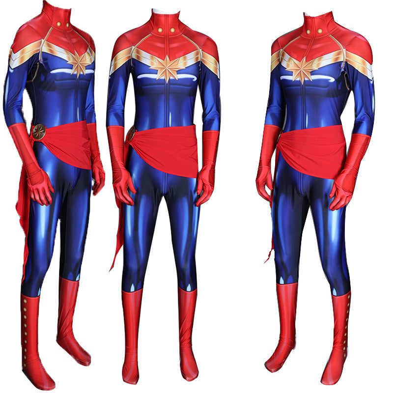 Avengers 4 Captain Marvel Costume Cosplay Zentai Jumpsuit Bodysuit For Adult Adorecosplay Com A captain america costume, spiderman costume with his spider. avengers 4 captain marvel costume