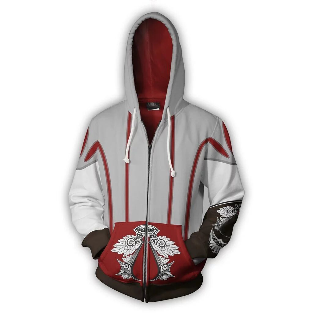 Assassin S Creed Hoodie Brotherhood Zip Up Hoodies Jacket Coat