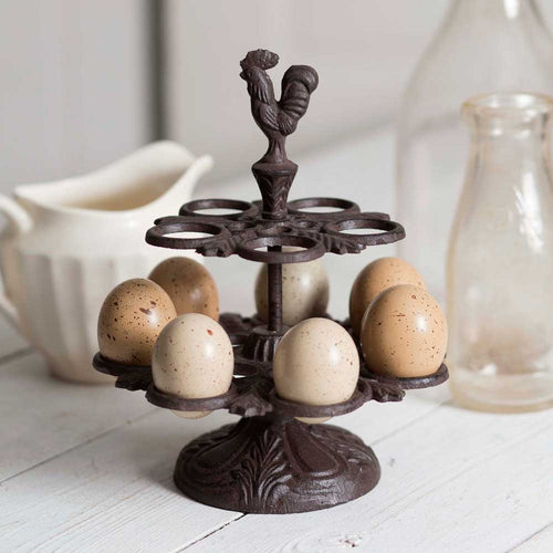 Sale! Cast Iron Rooster Egg Display
