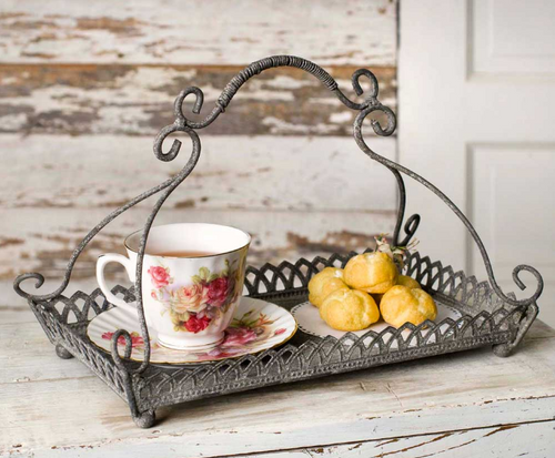 Vintage Farmhouse Victorian Style Chantilly Tray