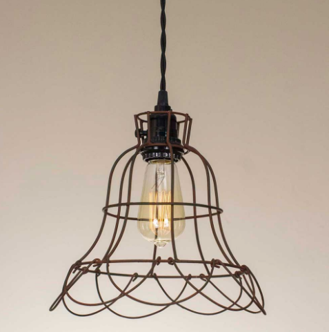 Wire Buttercup Pendant Lamp
