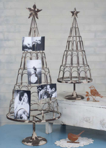 Wire Industrial Chic Card / Photo Tree - Set of Two Sizes
