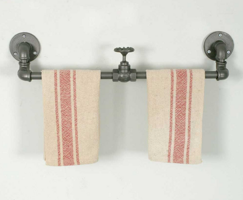 Industrial Towel Rack with Valve - set of 2