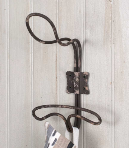 Vintage Inspired Wire Locker Room Wall Mounted Hooks
