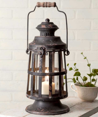 Decorative Curtis Island Candle Lantern-Vintage