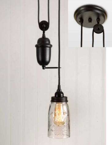 Pulldown Pendant Lamp Canopy Kit