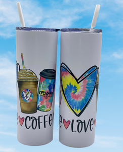 Peace, Love, Coffee Tumbler