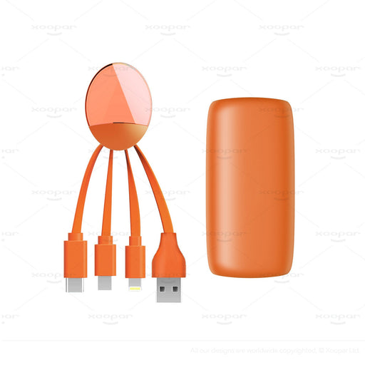 Xoopar Weekender Power Pack : Multi phone Charging cable & Power bank - select your colour! 6 month warranty applies Xoopar Orange