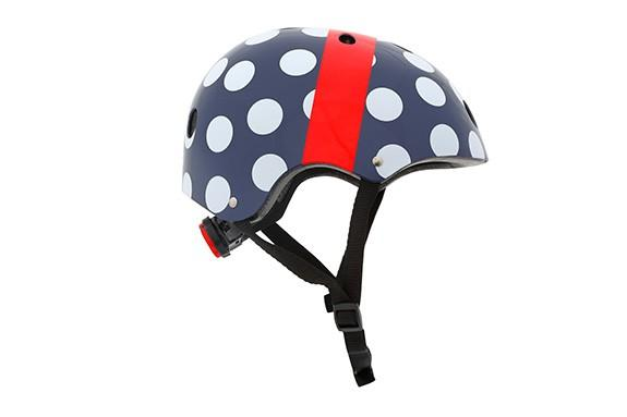 Mini Hornit LIDS Children's Bicycle & Scooter Helmet with Flashing Safety Lights - POLKA Dot Style