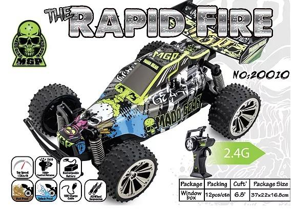 RAPID FIRE MGP RC Offroad Buggy 1:18 3 month warranty applies Tech Outlet