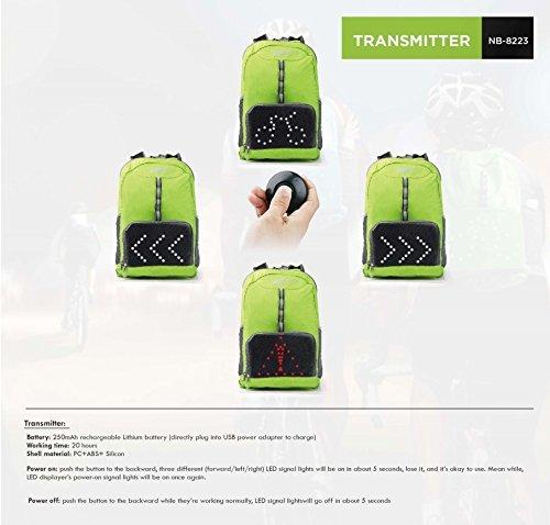 Lightweight Cycling Backpack with LED Lighting indicators 12 month warranty applies Tech Outlet