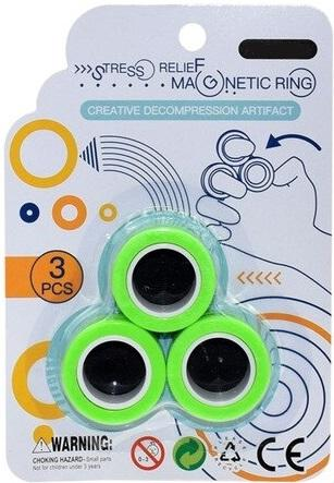 Stress Relief Magnetic Rings GREEN (Medium)