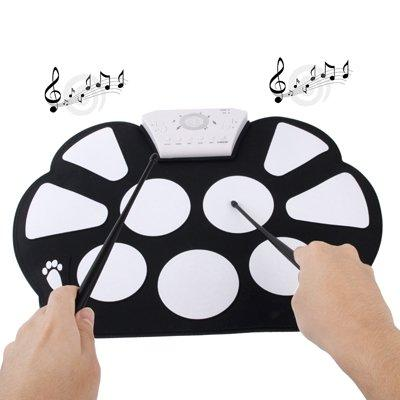 Portable Mini Kids Foldable Digital Drum Pad Kit with Pedal