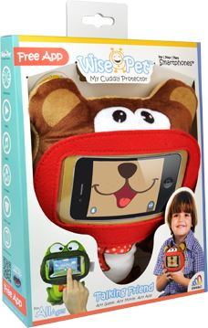 "Wise Pets Soft & Cuddly Smartphone Protector for Kids - For Phones upto 5.2"" Mini Bear 3 month warranty applies Tech Outlet"