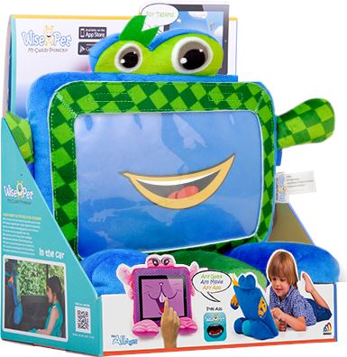 "Wise Pets Soft & Cuddly Tablet Protector for Kids - For Tablets 7""- 8"" CHECKER 3 month warranty applies Tech Outlet"