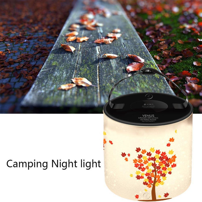 Venus Inflatable LED Lantern - Autumn Leaves