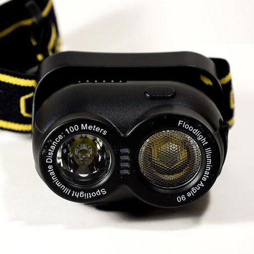 High Power LED Head Lamp - 160 Lumen BLACK 12 month warranty applies Tech Outlet