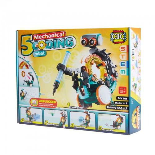 5 in 1 Mechanical Coding Robot 3 month warranty applies Tech Outlet