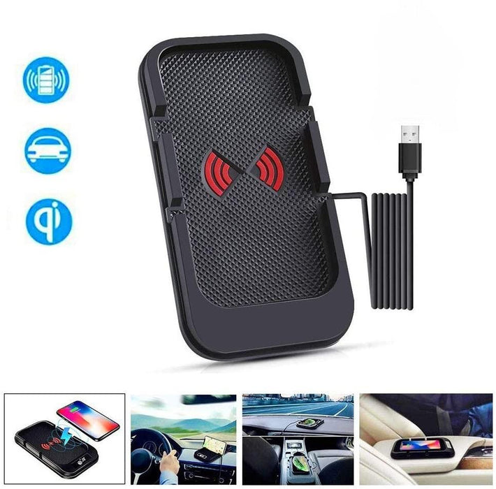 JE  3 in 1 Silicon Wireless Car Charger & Phone mount