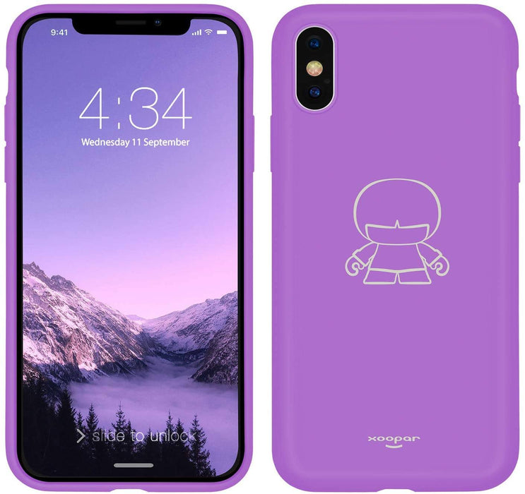 "Xoopar IPhone X/XS Case - to fit 5.8"" Screens : Bright Vibrant Colours 12 month warranty applies Xoopar Purple"