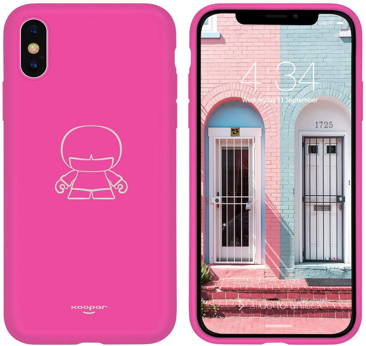 "Xoopar IPhone X/XS Case - to fit 5.8"" Screens : Bright Vibrant Colours 12 month warranty applies Xoopar Pink"