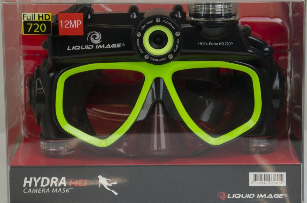 Liquid Image Hydra 305 diving camera mask (720p) Green 12 month warranty applies Liquid Image