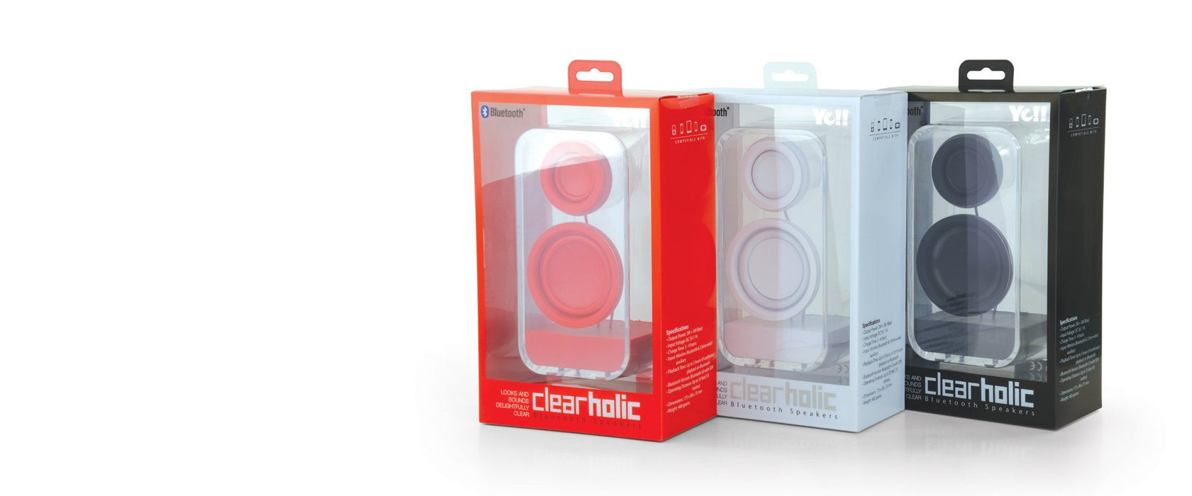 Ye!! Clearholic Transparent Speaker - Black 12 month warranty applies Tech Outlet