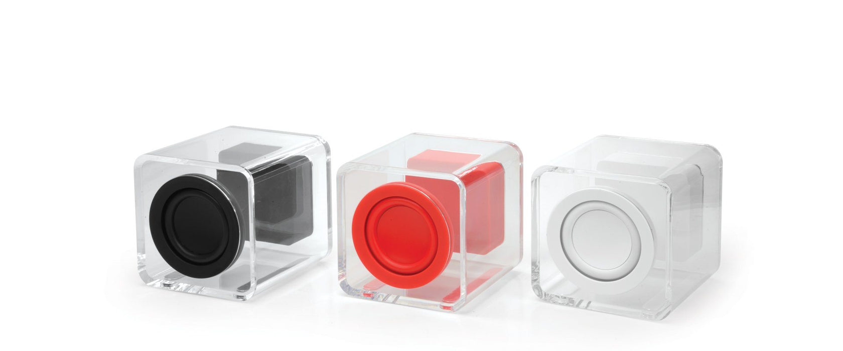 Ye!! Clearcube Transparent Speaker - White